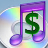 a dollar sign and the iTunes logo